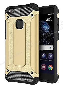 Dafoni Tough Power Huawei P10 Lite Ultra Koruma Gold Kılıf