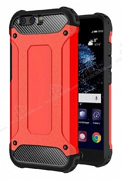 Dafoni Tough Power Huawei P10 Ultra Koruma Kırmızı Kılıf