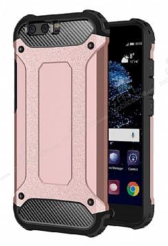 Dafoni Tough Power Huawei P10 Ultra Koruma Rose Gold Kılıf