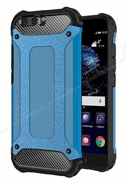 Dafoni Tough Power Huawei P10 Ultra Koruma Mavi Kılıf
