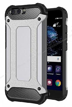 Dafoni Tough Power Huawei P10 Ultra Koruma Silver Kılıf
