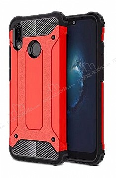 Dafoni Tough Power Huawei P20 Lite Ultra Koruma Kırmızı Kılıf
