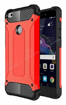 Dafoni Tough Power Huawei P9 Lite 2017 Ultra Koruma Kırmızı Kılıf
