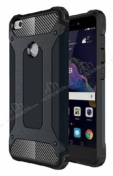 Dafoni Tough Power Huawei P9 Lite 2017 Ultra Koruma Siyah Kılıf