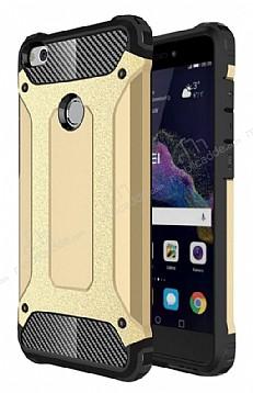 Dafoni Tough Power Huawei P9 Lite 2017 Ultra Koruma Gold Kılıf