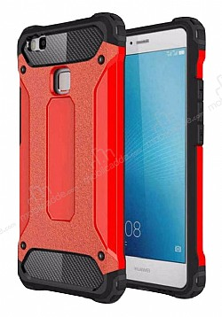 Dafoni Tough Power Huawei P9 Lite Mini Ultra Koruma Kırmızı Kılıf