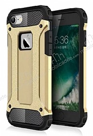 Dafoni Tough Power iPhone 7 Ultra Koruma Gold Kılıf