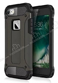 Dafoni Tough Power iPhone 7 Ultra Koruma Gun Black Kılıf