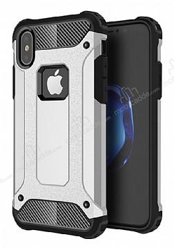 Dafoni Tough Power iPhone X Ultra Koruma Silver Kılıf