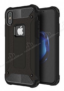 Dafoni Tough Power iPhone X Ultra Koruma Siyah Kılıf