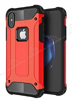 Dafoni Tough Power iPhone X Ultra Koruma Kırmızı Kılıf
