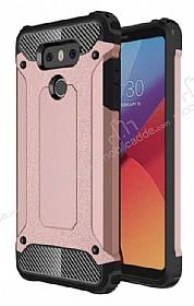 Dafoni Tough Power LG G6 Ultra Koruma Rose Gold Kılıf