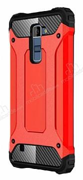 Dafoni Tough Power LG K10 Ultra Koruma Kırmızı Kılıf