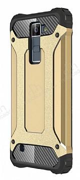 Tough Power LG K8 Ultra Koruma Gold Kılıf