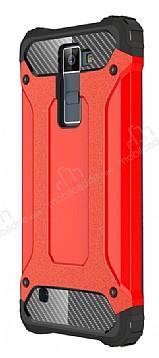 Tough Power LG K8 Ultra Koruma Kırmızı Kılıf