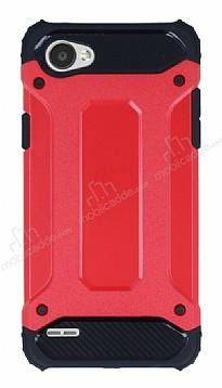 Tough Power LG Q6 Ultra Koruma Kırmızı Kılıf