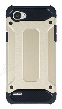 Tough Power LG Q6 Ultra Koruma Gold Kılıf