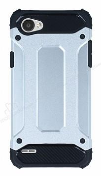 Tough Power LG Q6 Ultra Koruma Silver Kılıf