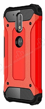 Tough Power Motorola Moto G4 Plus Ultra Koruma Kırmızı Kılıf