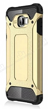 Dafoni Tough Power Samsung Galaxy C5 Pro Ultra Koruma Gold Kılıf