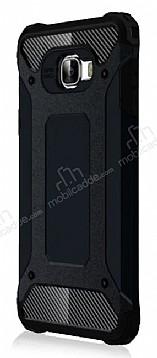 Dafoni Tough Power Samsung Galaxy C7 Pro Ultra Koruma Siyah Kılıf