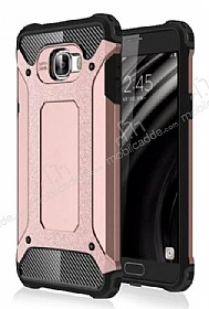 Dafoni Tough Power Samsung Galaxy C7 SM-C7000 Ultra Koruma Rose Gold Kılıf