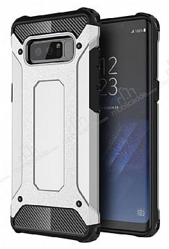 Dafoni Tough Power Samsung Galaxy Note 8 Ultra Koruma Silver Kılıf