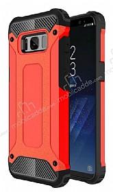 Dafoni Tough Power Samsung Galaxy S8 Plus Ultra Koruma Kırmızı Kılıf