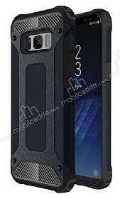 Dafoni Tough Power Samsung Galaxy S8 Plus Ultra Koruma Siyah Kılıf