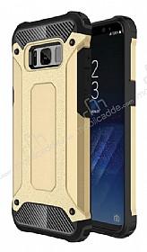 Dafoni Tough Power Samsung Galaxy S8 Ultra Koruma Gold Kılıf