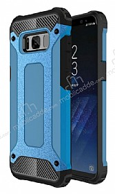 Dafoni Tough Power Samsung Galaxy S8 Ultra Koruma Mavi Kılıf