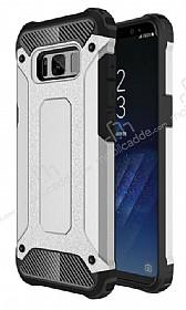 Dafoni Tough Power Samsung Galaxy S8 Ultra Koruma Silver Kılıf