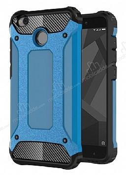 Dafoni Tough Power Xiaomi Redmi 4X Ultra Koruma Mavi Kılıf