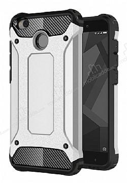 Dafoni Tough Power Xiaomi Redmi 4X Ultra Koruma Silver Kılıf