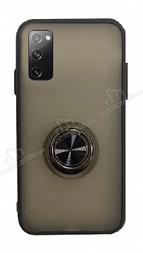 Dafoni Union Ring Samsung Galaxy S20 Süper Koruma Siyah Kılıf