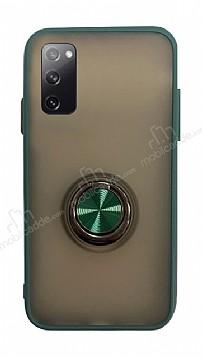 Dafoni Union Ring Samsung Galaxy S20 Süper Koruma Yeşil Kılıf