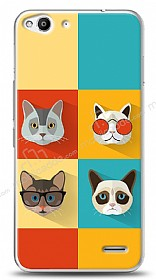 Dafoni Vodafone Smart 6 Four Cats Kılıf