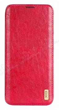 DCO Samsung Galaxy Note 8 Cüzdanlı İnce Yan Kapaklı Kırmızı Deri Kılıf