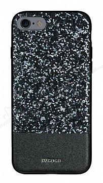 DZGOGO iPhone 6 / 6S Işıltılı Siyah Deri Kılıf