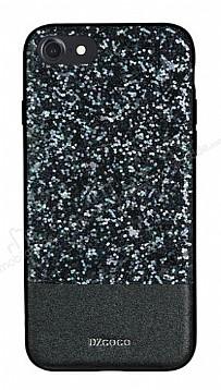 DZGOGO iPhone 7 / 8 Işıltılı Siyah Deri Kılıf