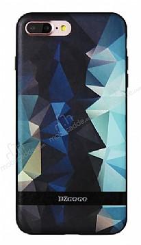 DZGOGO iPhone 7 Plus / 8 Plus Silikon Kenarlı Mavi Rubber Kılıf