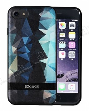 DZGOGO iPhone 7 / 8 Silikon Kenarlı Mavi Rubber Kılıf