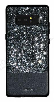 DZGOGO Samsung Galaxy Note 8 Işıltılı Siyah Deri Kılıf