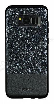DZGOGO Samsung Galaxy S8 Işıltılı Siyah Deri Kılıf