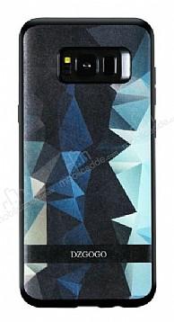 DZGOGO Samsung Galaxy S8 Plus Silikon Kenarlı Mavi Rubber Kılıf