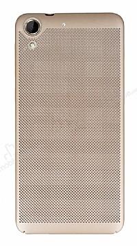 Eiroo Air To Dot HTC Desire 728G Delikli Gold Rubber Kılıf