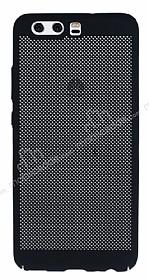 Eiroo Air To Dot Huawei P10 Delikli Siyah Rubber Kılıf