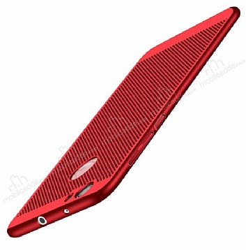 Eiroo Air To Dot Huawei P10 Lite Delikli Kırmızı Rubber Kılıf