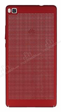 Eiroo Air To Dot Huawei P8 Delikli Kırmızı Rubber Kılıf