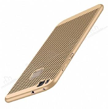 Eiroo Air To Dot Huawei P9 Lite 2017 Delikli Gold Rubber Kılıf